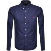 Product Image for Ralph Lauren Custom Long Sleeved Shirt Navy