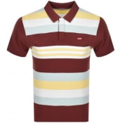 Product Image for Levis Original Short Sleeved Polo T Shirt Burgundy