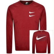 Product Image for Nike Crew Neck Swoosh Sweatshirt Red
