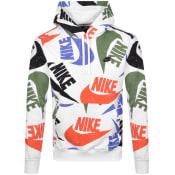 Product Image for Nike Heritage Swoosh Logo Hoodie White