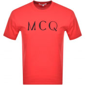 Product Image for MCQ Alexander McQueen Logo T Shirt Red