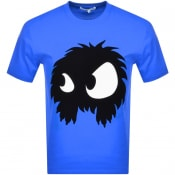 Product Image for MCQ Alexander McQueen Logo T Shirt Blue