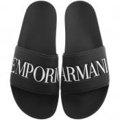 Product Image for Emporio Armani Logo Sliders Black