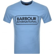 Product Image for Barbour International Large Logo T Shirt Blue
