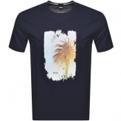 Product Image for BOSS Tmix Logo T Shirt Navy