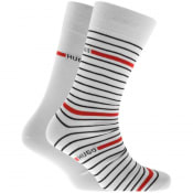 Product Image for HUGO Double Pack Socks White