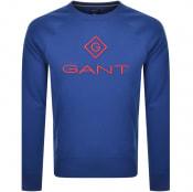 Product Image for Gant Crew Neck Lock Up Jumper Blue