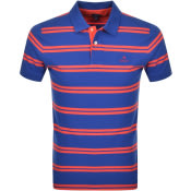 Product Image for Gant Contrast Stripe Polo T Shirt Blue