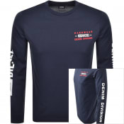 Product Image for Diesel T Diegos Long Sleeved T Shirt Navy