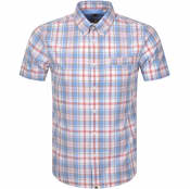 Product Image for Pretty Green Madras Check Short Sleeved Shirt Blue