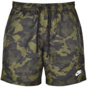 Product Image for Nike Flow Camo Logo Swim Shorts Green