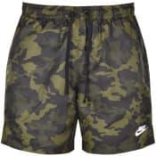 Product Image for Nike Flow Camo Logo Swim Shorts Green