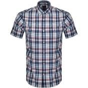 Product Image for Gant Indigo Check Short Sleeved Shirt White