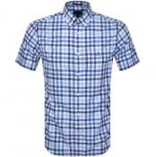 Product Image for Gant Multi Gingham Check Short Sleeved Shirt Blue