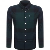 Product Image for Barbour Long Sleeved Dunnon Check Shirt Black