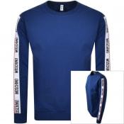 Product Image for Moschino Tape Logo Sweatshirt Navy