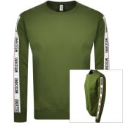 Product Image for Moschino Tape Logo Sweatshirt Khaki