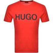 Product Image for HUGO Dolive T Shirt Red