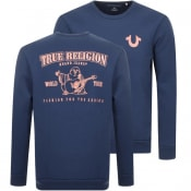Product Image for True Religion Crew Neck Sweatshirt Blue