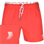 Product Image for HUGO X Liam Payne Cocoa LP3 Swim Shorts Red
