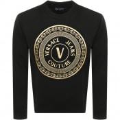 Product Image for Versace Jeans Couture Foil Logo Sweatshirt Black