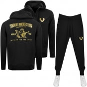 Product Image for True Religion Double Puff Tracksuit Black