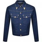 Product Image for Versace Jeans Couture Gold Tip Denim Jacket Blue