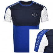 Product Image for Armani Exchange Colour Black T Shirt Blue