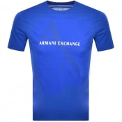 Product Image for Armani Exchange Crew Neck Logo T Shirt Blue