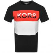 Product Image for Michael Kors Blocked Logo T Shirt Black