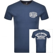 Product Image for Deus Ex Machina Logo T Shirt Navy