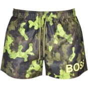 Product Image for BOSS Camoushark Swim Shorts Green