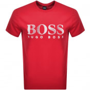 Product Image for BOSS UV Protection Logo T Shirt Red