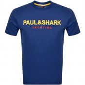 Product Image for Paul And Shark Logo T Shirt Blue