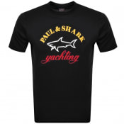 Product Image for Paul And Shark Logo T Shirt Black