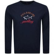 Product Image for Paul And Shark Crew Neck Logo Sweatshirt Navy