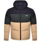 Product Image for Lacoste Full Zip Padded Jacket Beige