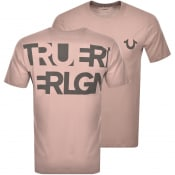 Product Image for True Religion Logo T Shirt Pink