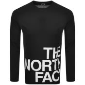 Product Image for The North Face Long Sleeved Logo T Shirt Black