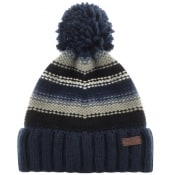 Product Image for Barbour Cable Knit Harrow Beanie Hat Blue