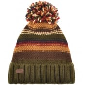 Product Image for Barbour Cable Knit Harrow Beanie Hat Green