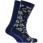 Product Image for Levis Floral 2 Pack Socks Blue