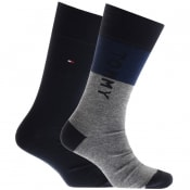 Product Image for Tommy Hilfiger 2 Pack Logo Socks Navy