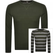 Product Image for BOSS Mateo Reversible Knit Jumper Khaki