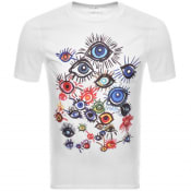 Product Image for Armani Exchange Katerina Street Art T Shirt White