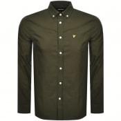 Product Image for Lyle And Scott Oxford Long Sleeve Shirt Khaki