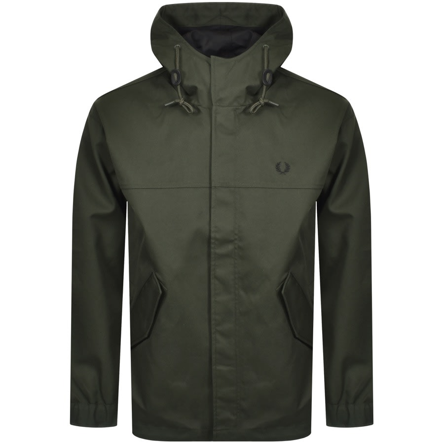Fred Perry Short Bonded Parka Green