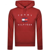 Product Image for Tommy Hilfiger Flag Logo Pullover Hoodie Red