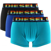 Product Image for Diesel Underwear Damien 3 Pack Trunks Blue