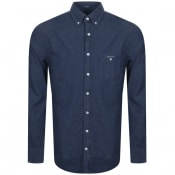 Product Image for Gant The Indigo Denim Shirt Blue
